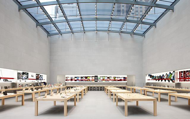 Apple is a good example of an 'office' layout that is easy to navigate and inviting.