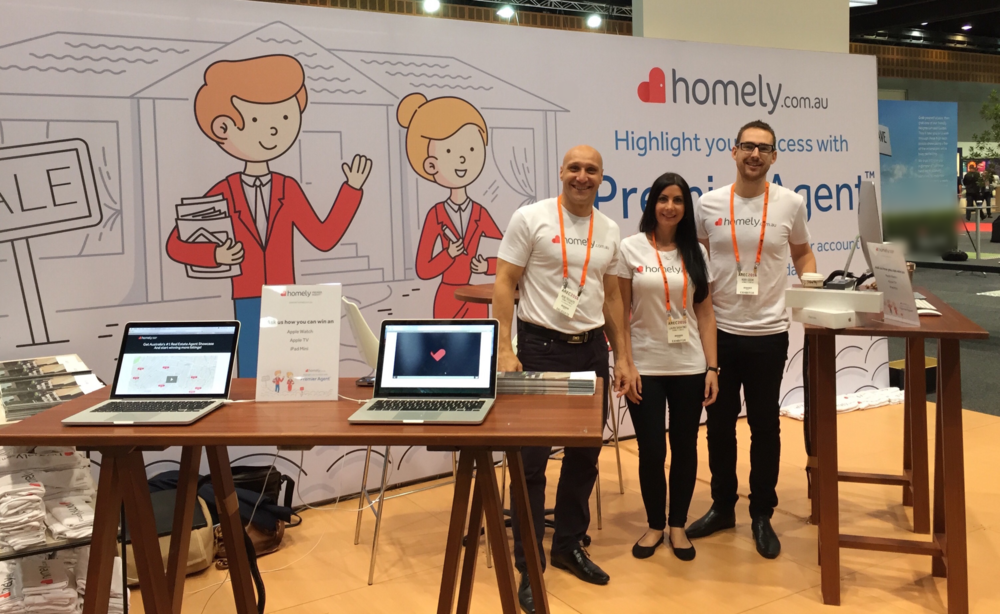 Team Homely lookin' good at AREC2016! (L to R: Rob Trovato -NSW Sales Manager,Laura Sabatino - Data Integrity Manager, Rory Cook -Business Development Manager)