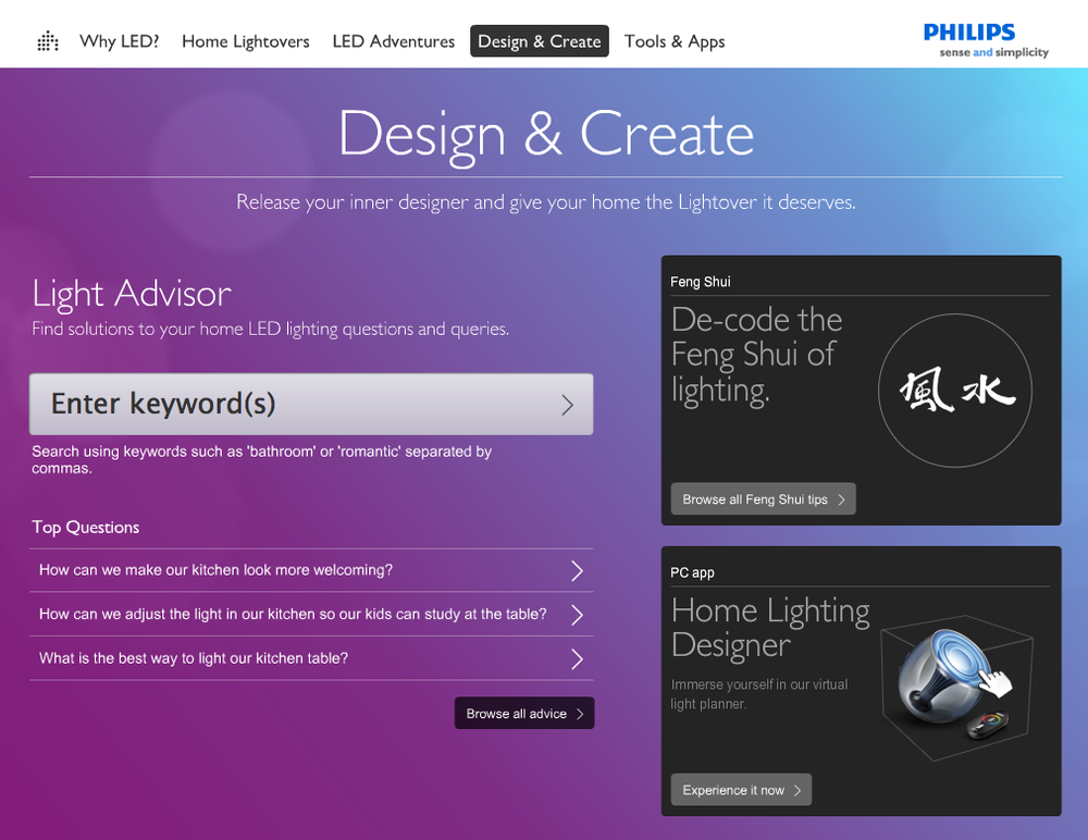 Philips LED Lightshow - copy — specializing in copy, concepts ...