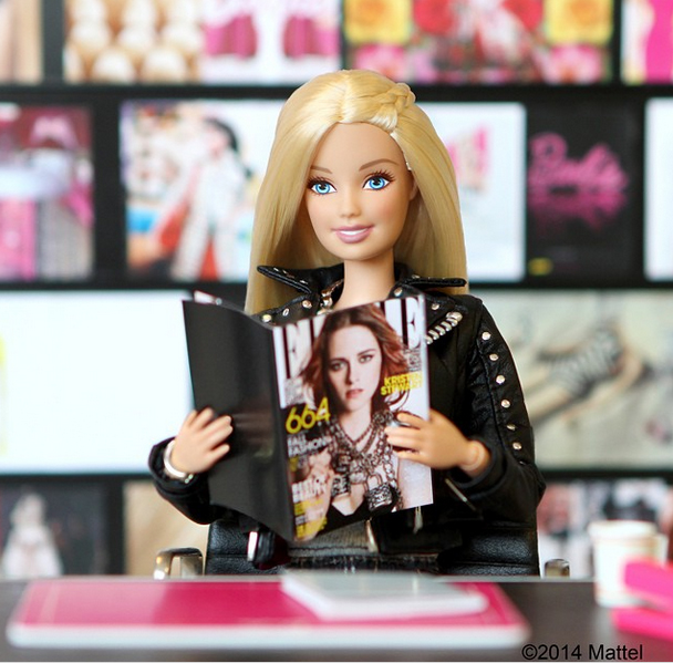 Barbie's instagram account : Pre fashion week collaboration post with ELLE USA magazine