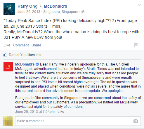 Facebook post from an angry consumer. McDonald's marketing fail led to instant backlash from the public on numerous social media networks. Facebook post from an angry consumer.