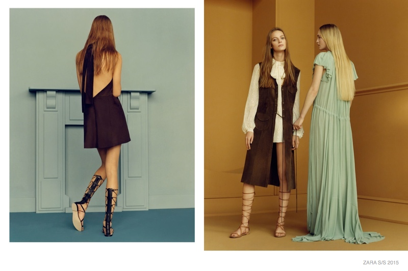 Zara Spring Summer 2015 lookbook  featuring the latest trends - easy glam from the 70s