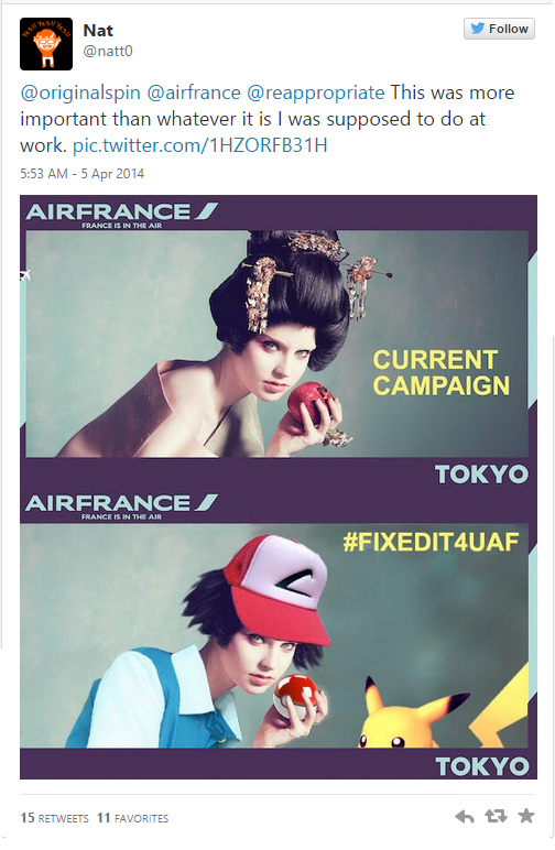A Twitter user gives the  racist campaign a makeover  and transforms it into Japan's favourite anime and game characters - Pokemon.