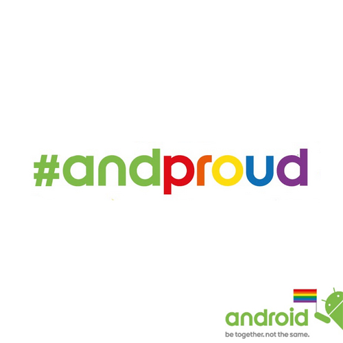 Google's slogan and hashtag for Pride month 2015.