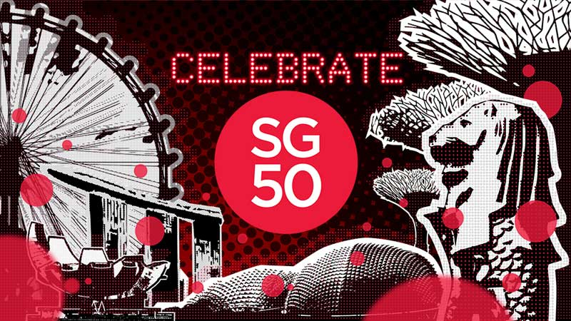 Image of Singapore's jubille celebration of 50 years on 9 Aug from web portal Youth.sg