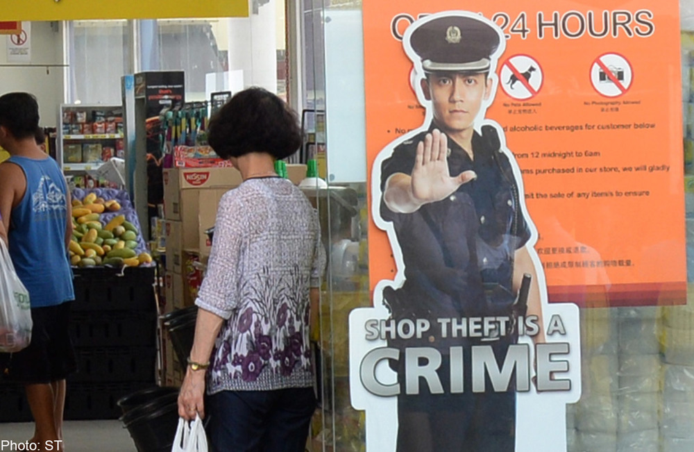 Singapore Police Force advertising campaign: Because putting a cardboard cut-out will deter crime more than deploying more policemen or other security measures.