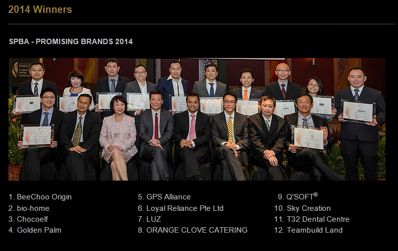 Singapore Prestige Brand Award winners from 2014