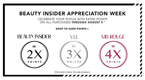 Launch of the rewards programme for Sephora Beauty Insiders, VIB and VIB Rouge members