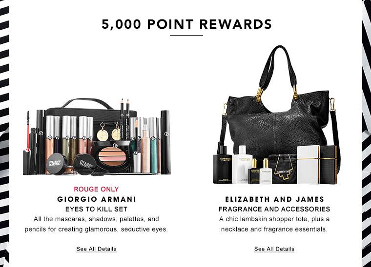 Giorgio Armani completebeauty set or Elizabeth and James fragrance plus chic lambskin shopper tote
