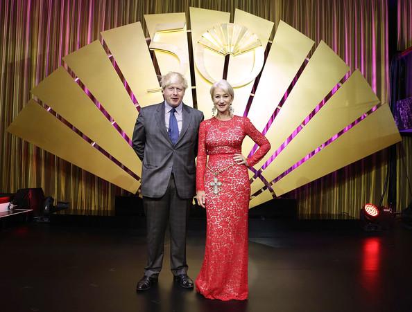 Mandarin Oriental 50th anniversary, filmstar Helen Mirren and Boris Johnson (Image: Zimbio)