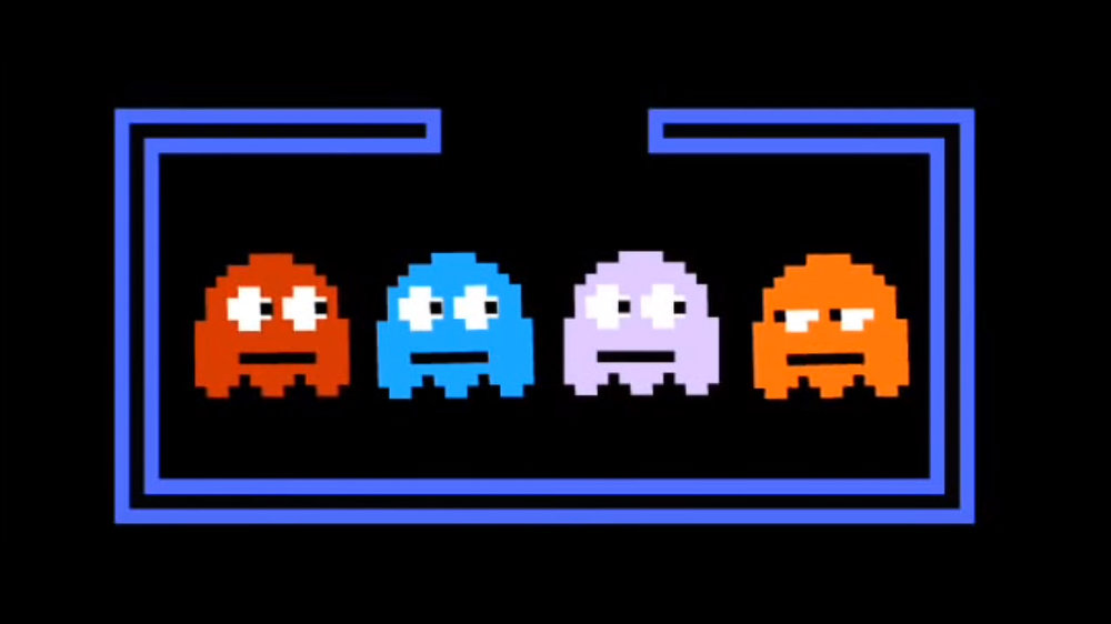 Pacman ghosts by  College Humor