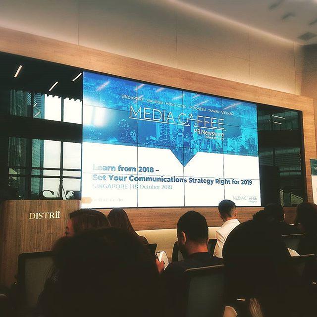 At the second 📰 #mediacoffee ☕ event earlier today  #prnewswire #distrii #pr #event #singapore #digitalmarketing #socialmedia #agency #tweema #tweemabird
