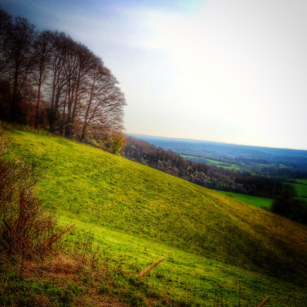Riding the small but lung-bursting hills of the Downs in search of #microadventure locations.