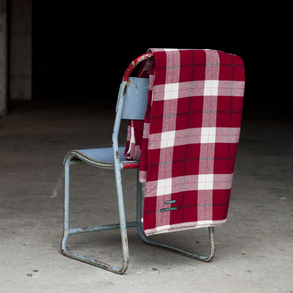 Fforest Welsh Wool Plaid Blanket, £190   Berry red plaid blanket woven using traditional methods on a Dobcross loom, on the banks of the River Teifi. Perfect on these chilly nights.