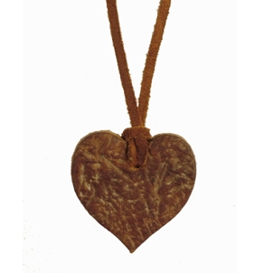 Russian Reindeer Leather Heart Pendant, £20 Great English Outdoors