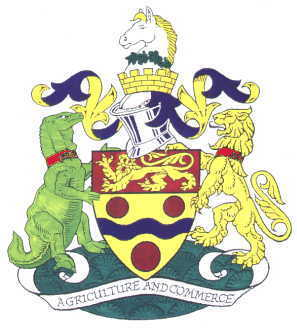 The Iguanodon features on the Maidstone Coat of Arms