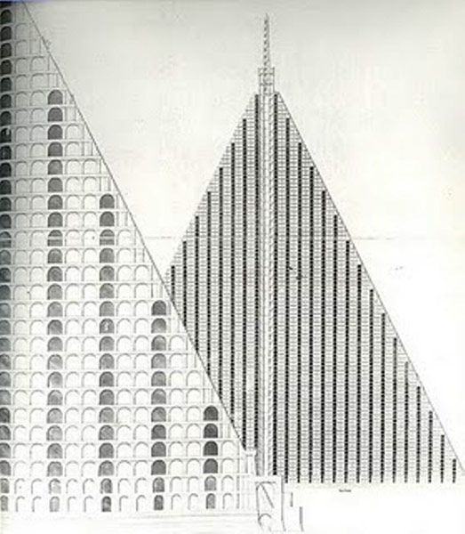 A blueprint of Thomas Willson's Metropolitan Sepulchre
