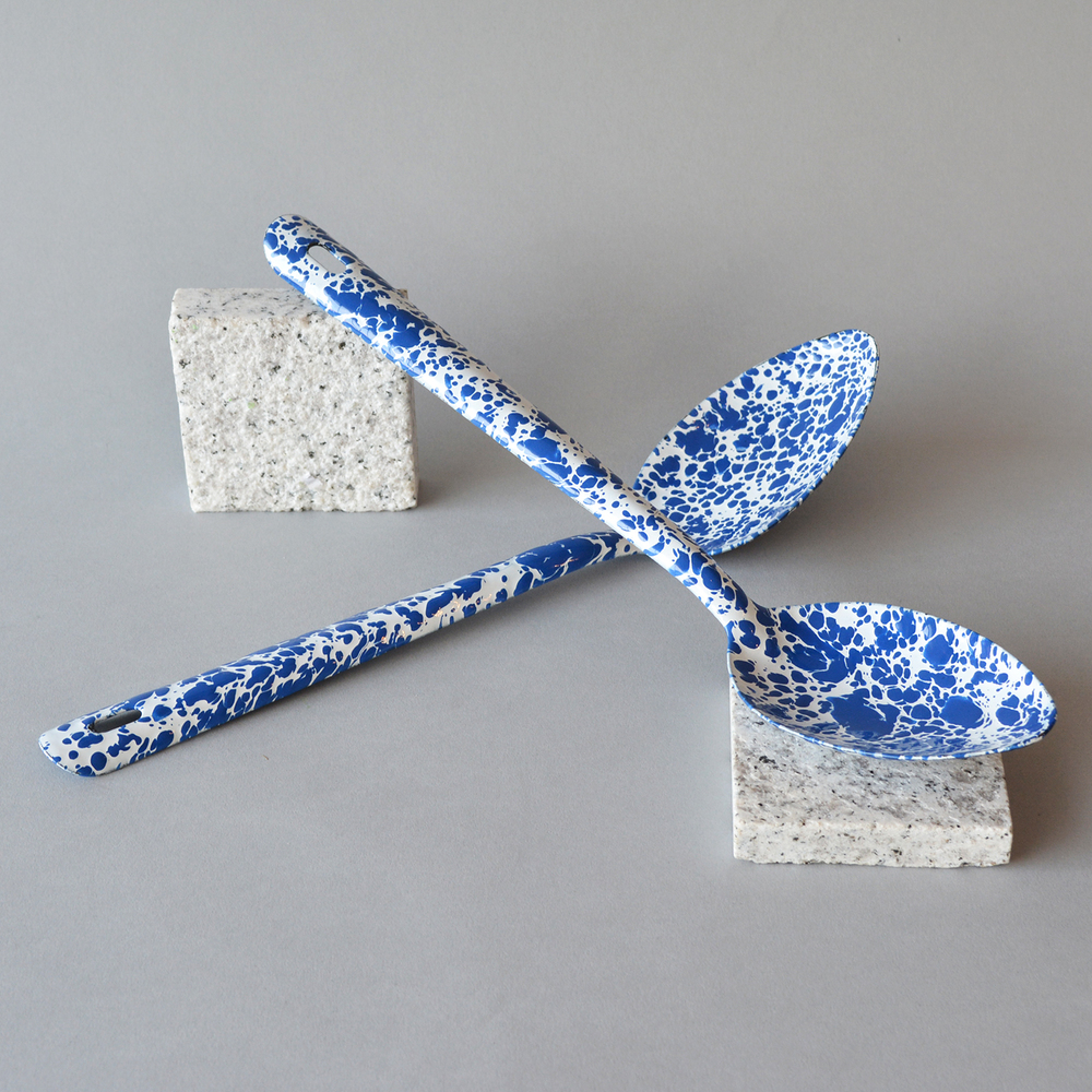Blue Splatter Spoons  Available in two sizes, teaspoon and serving spoon, individually painted to create a unique splatter effect.  £5/£12