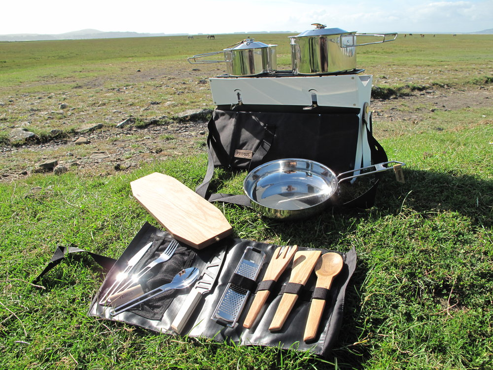 Primus Onja Stove Duo, complete with oak board and utensil roll, RRP £105