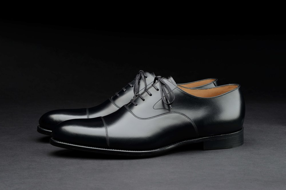 Hanover, Onyx Black Oxford, Loake 1880 Export Grade