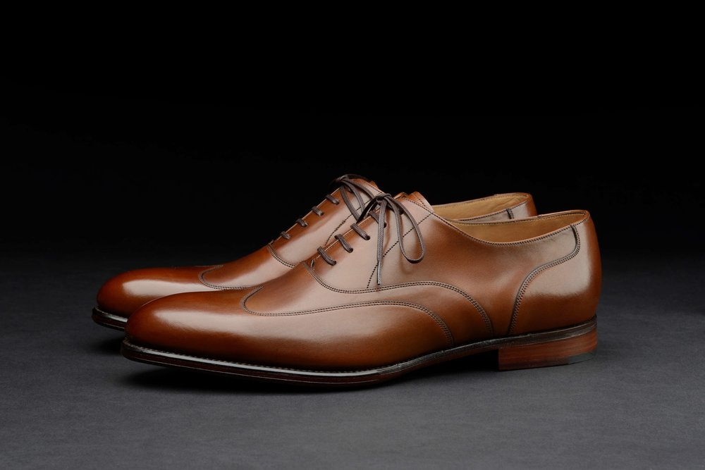 Warwick, Smoked Teak Semi-brogue, Loake 1880 Export Grade