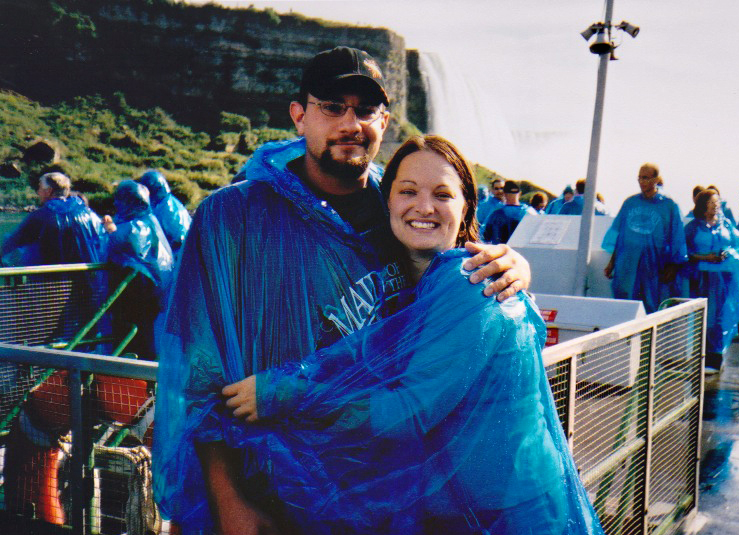 one of our trips up to niagara falls. recognize those blue ponchos?
