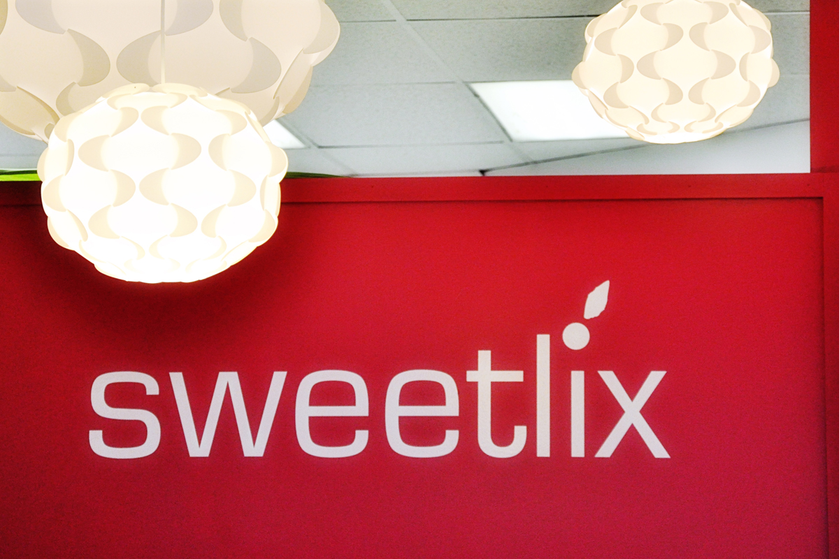 a small storefront with a big impact. sweetlix has a simple, fun and modern vibe.