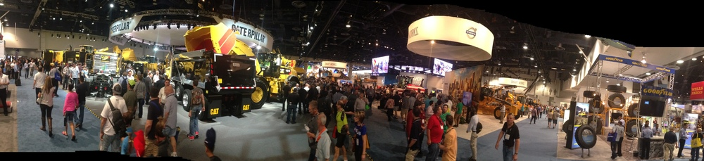 The bustling show floor at CONEXPO-CON/AGG 2014 in Las Vegas earlier this month.