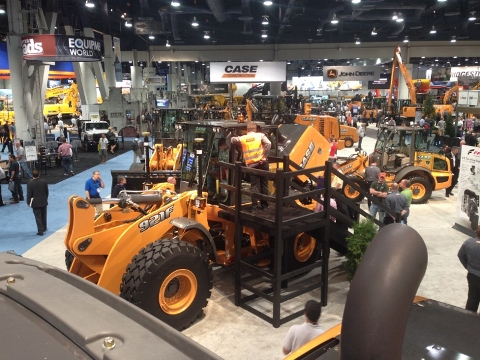 Another view of the show floor at CONEXPO-CON/AGG 2014
