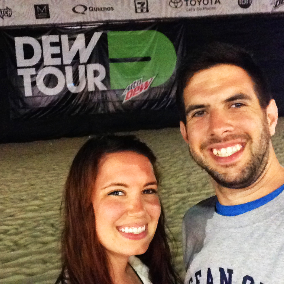 We were at the beach the same time Dew Tour was!
