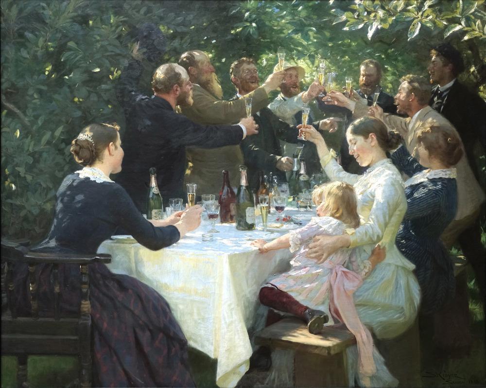 P.S. Krøyer:Hip, Hip, Hurrah!(1888)