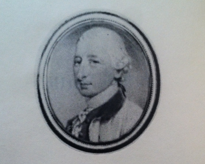 Miniature portrait of Governor Josiah Martin, the last Royal Governor of North Carolina