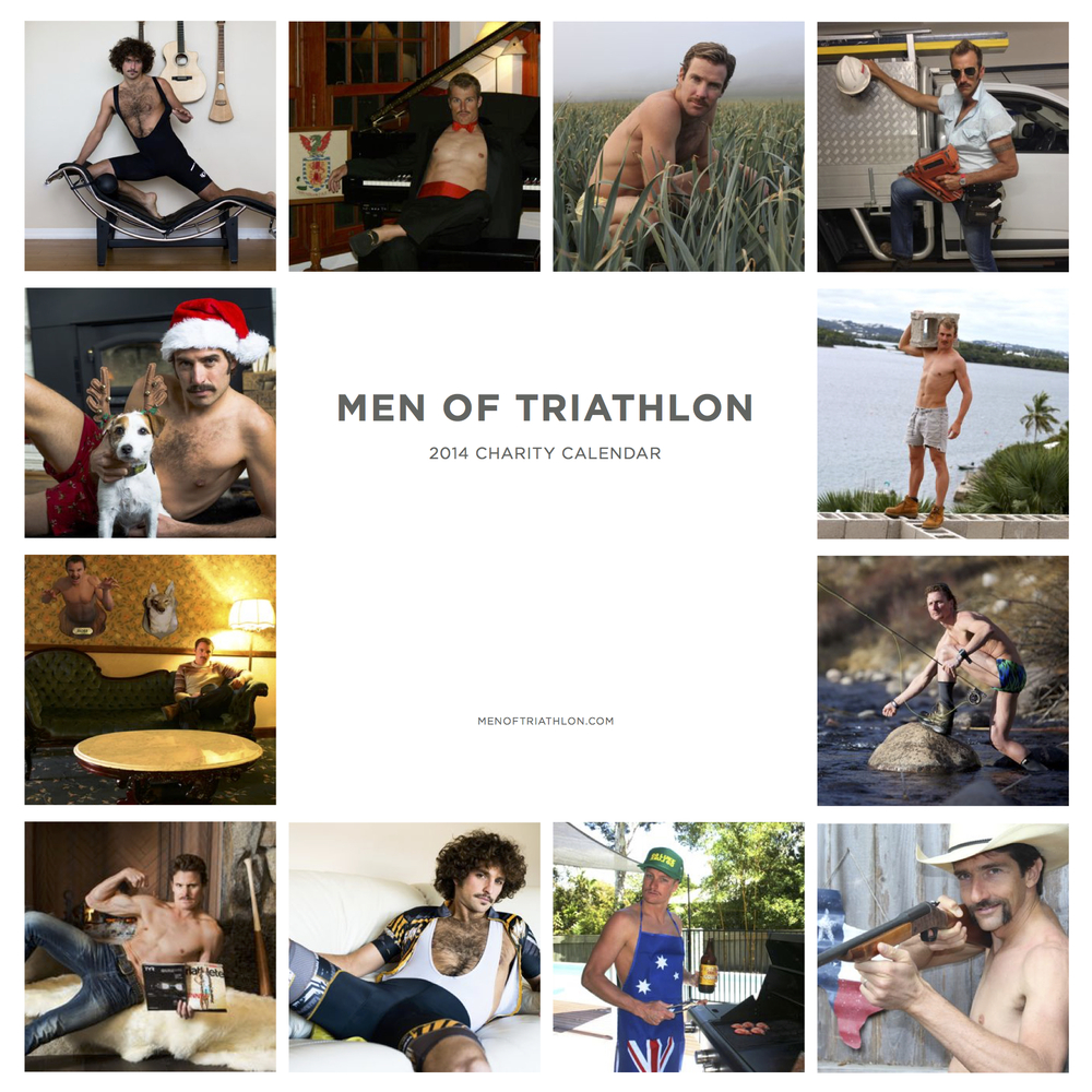 Click the image to download the full 2014 Men of Triathlon Calendar
