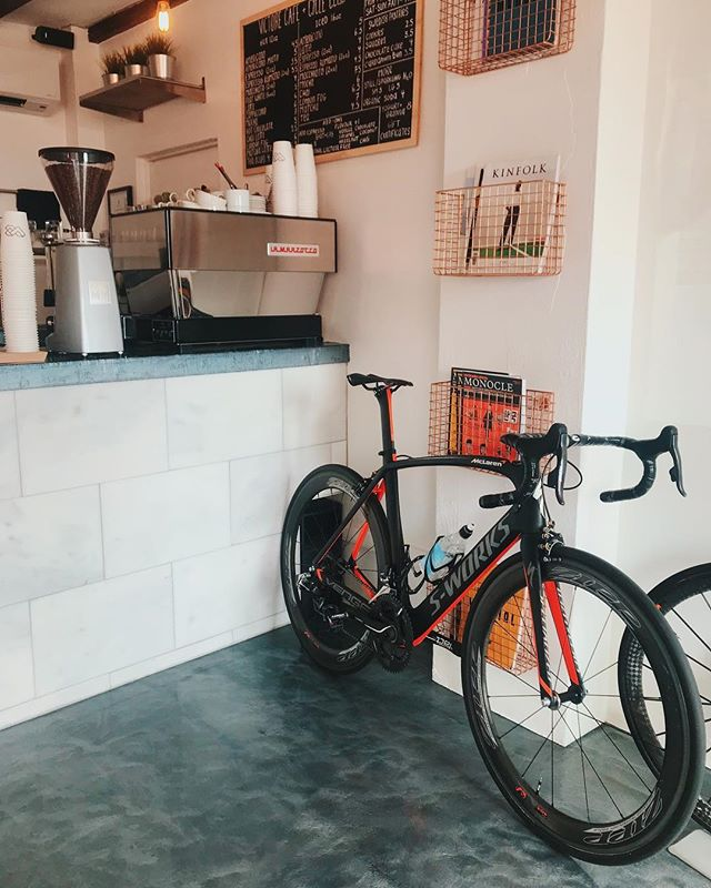 Something Special•ized 🚴🏽‍♂️ • • • • • #cafe #bermuda #cycling #coffeelover #coffeetime #latte #coffeeaddict #coffeegram #barista #instacoffee #aesthetic #latteart #coffeeholic #caffeine #cafelife #interior #coffeeshop #coffeelove #espresso #rideyourbike #coffeelovers #coffeeoftheday #coffeelife #café #drink #restaurant #cappuccino #cotd #coffeemug #bikeporn