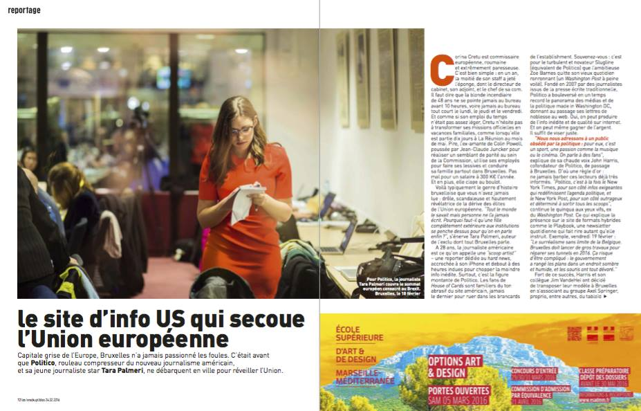 Tara Palmeri profile in Les Inrocks