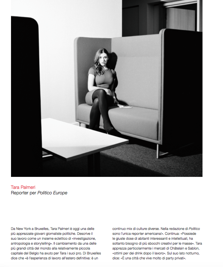 "Tara Palmeri in Rivisita Studio magazine on ""The New Brussels"""