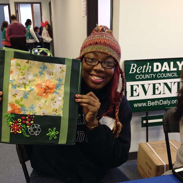 The Beth Daly team worked with teen volunteers to make tote bags for A Wider Circle on MLK day of service. Great day!