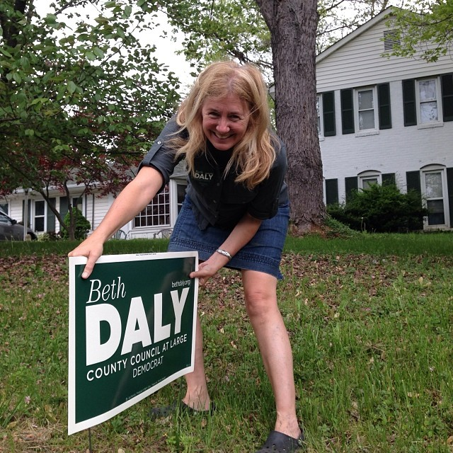 Putting up yard signs