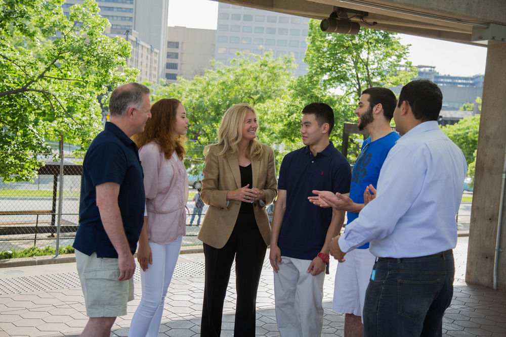 Talking with voters at Rockville Metro