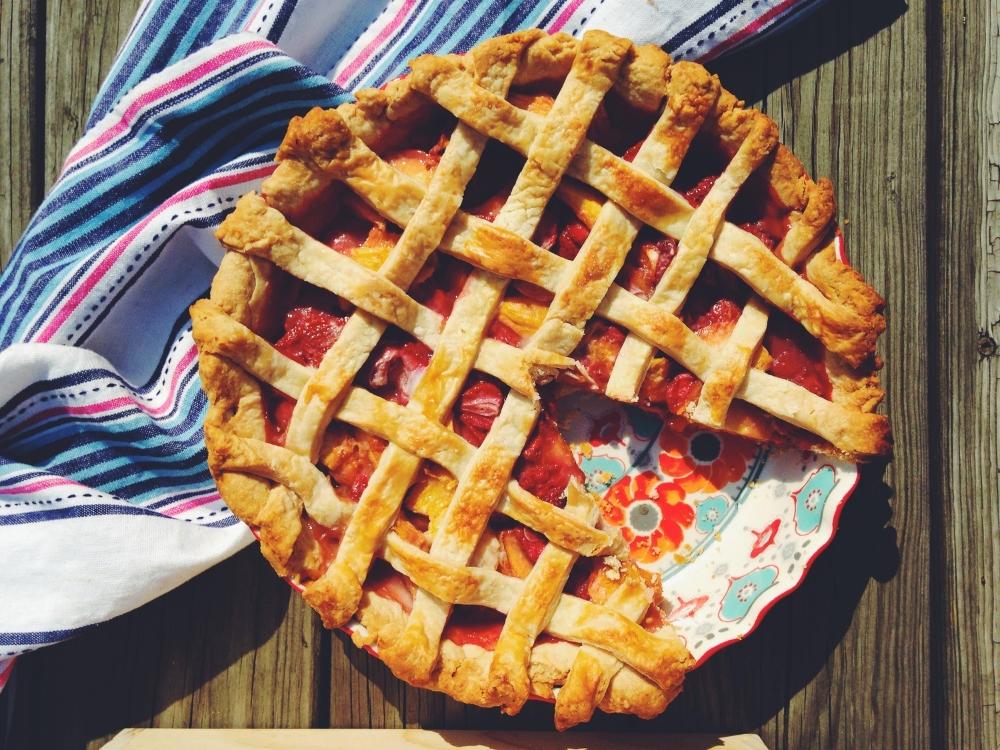 Peach-Strawberry Pie