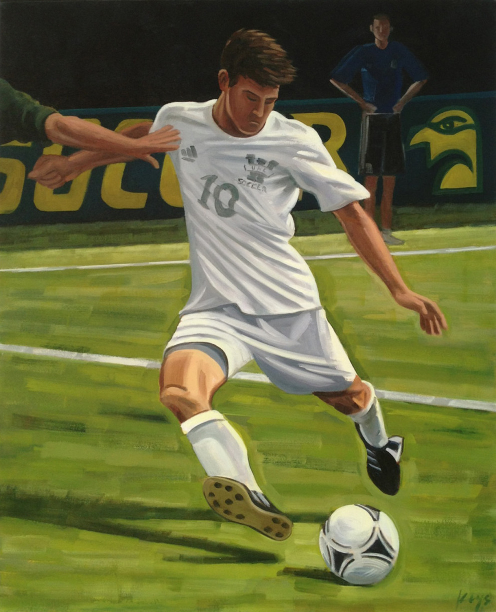 """100 WINS!"" : UNCW Men's Soccer Painting and Print"