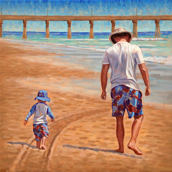 Malcolm and Dad, 20 x 20 in, Oil on Canvas (1).jpg
