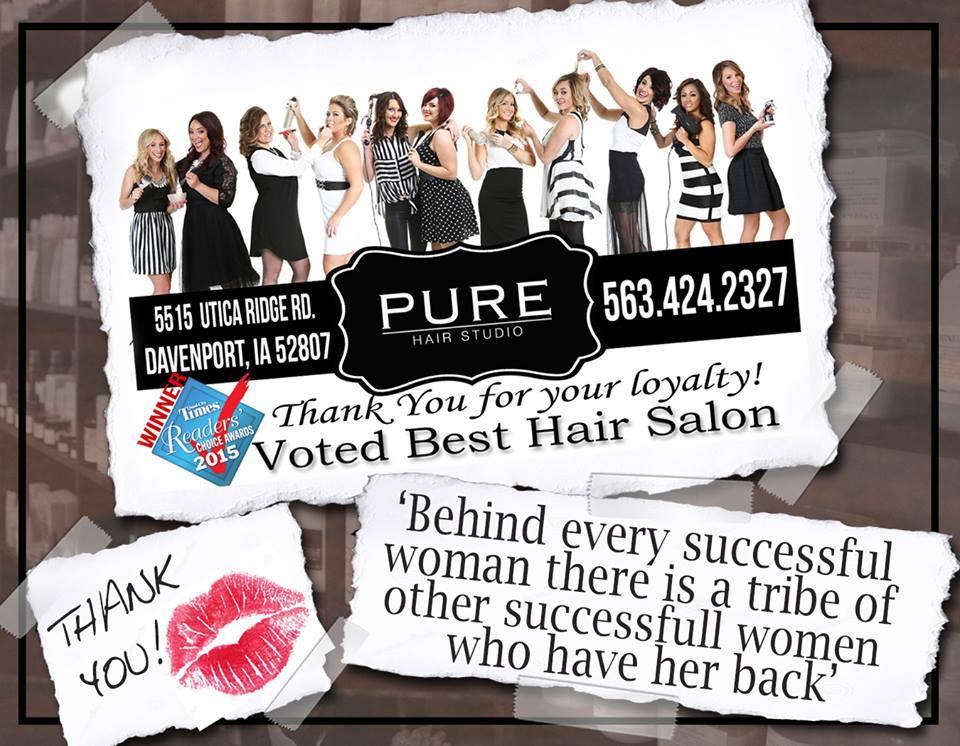 PURE Hair Studio Caitlin Elizabeth Bridal and Alterations Davenport Bridal Expo