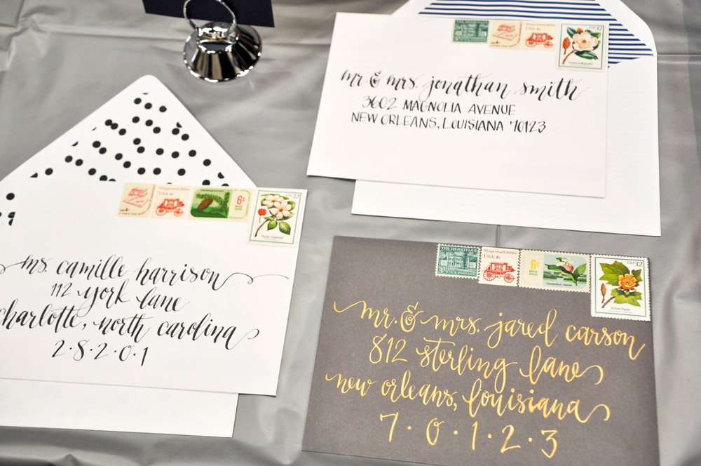 Caitlin Elizabeth Bridal and Alterations || Cailan Calligraphy, Wedding Hand Lettering Invitations