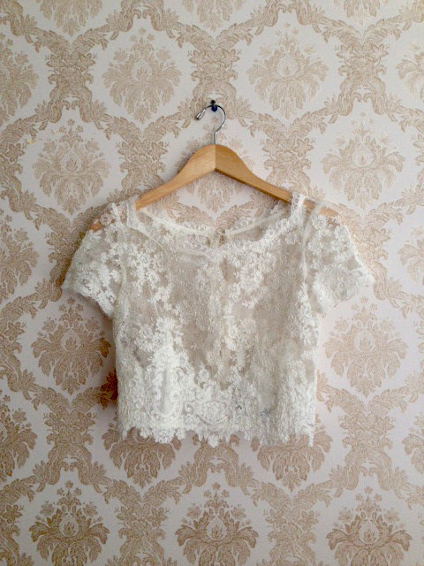 Leanne Marshall Lace Wedding Top Caitlin Elizabeth Bridal and Alterations