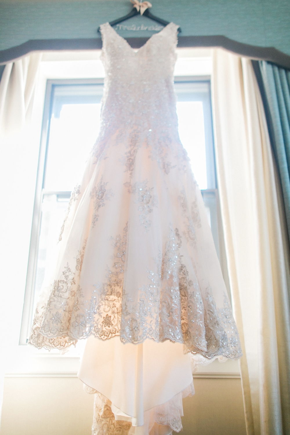 Allure Bridal Gold Lace Wedding Dress || Caitlin Elizabeth Bridal and Alterations