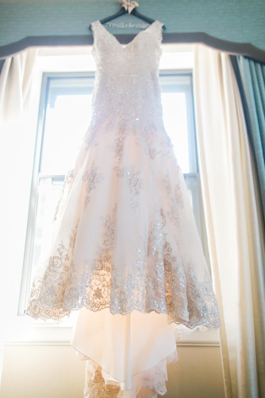 Allure Bridal Gold Lace Wedding Dress || Caitlin Elizabeth Bridal and Alterations