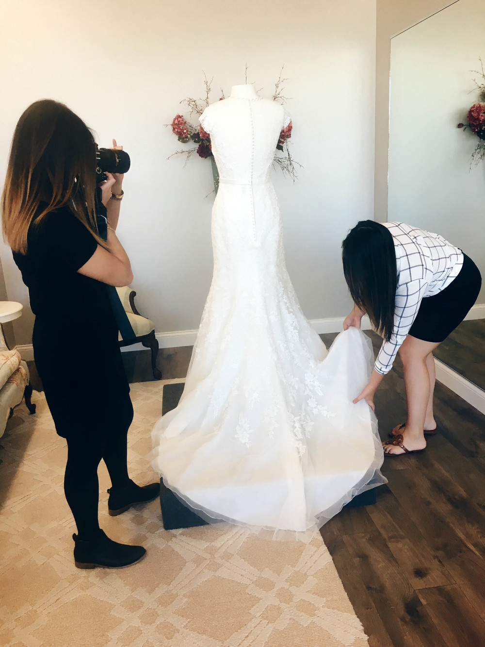 Bringing wedding dresses to life for our blog post!