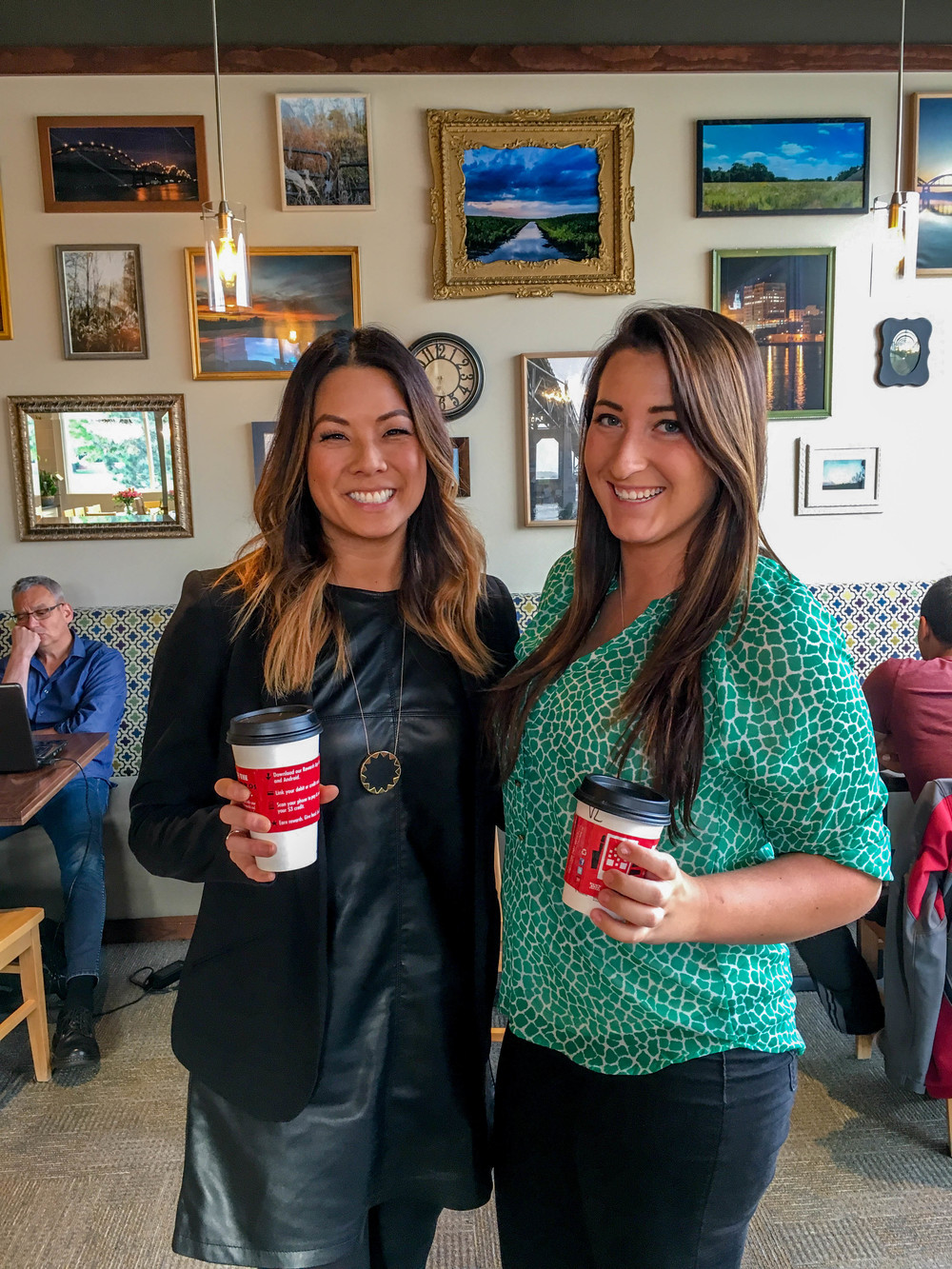 Enjoying Dunn Bros Coffee and their new Birchwood Fields location in Davenport, IA.