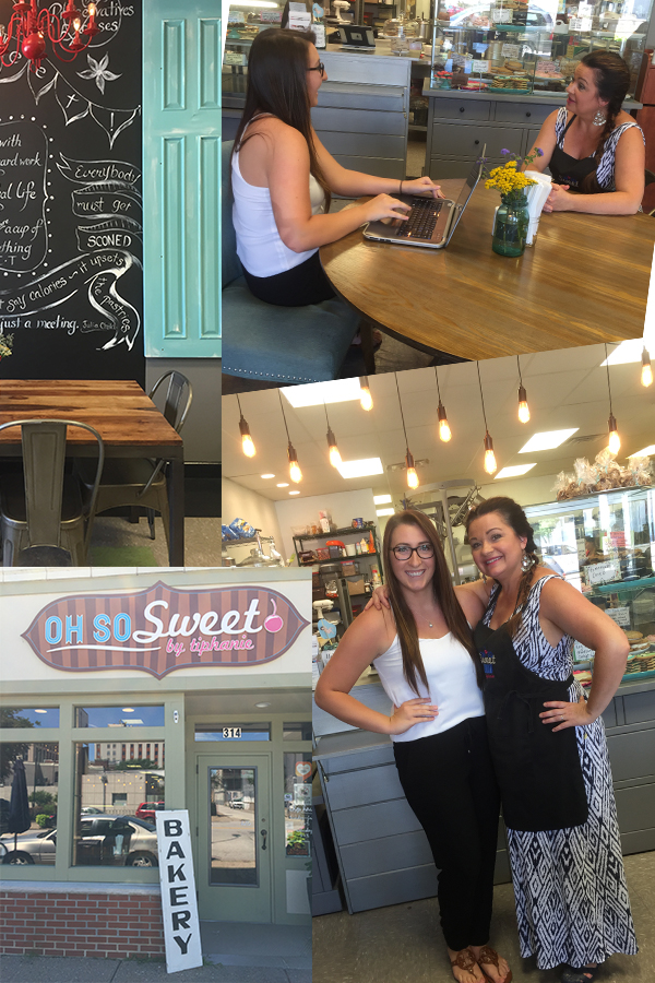 Interviewing and meeting Tiphanie, owner of Oh So Sweet,was such a fun experience!